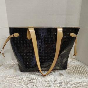 Arcadia Black Patent Leather Tote